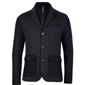 Ted Baker Navy Blue Twain Two In One Jersey Jacket